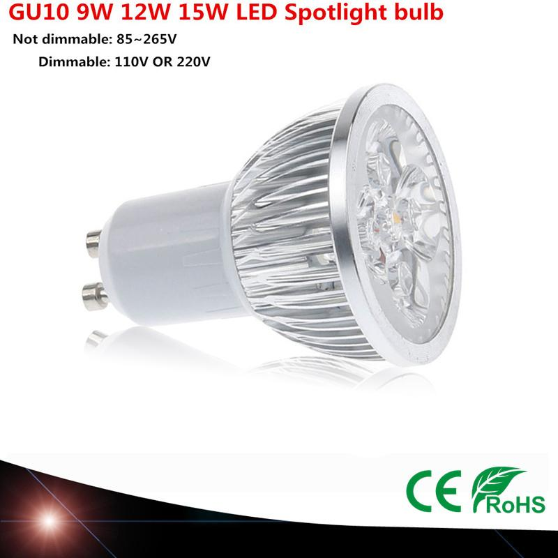 Super Bright Led 9w 12w 15w Gu10 Led Bulb Light Lamp 110v 220v ...