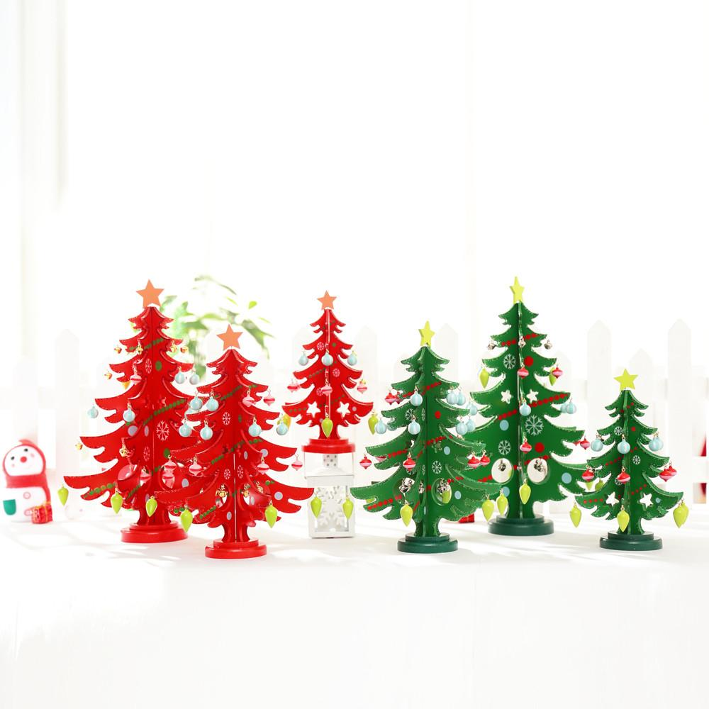 3D DIY Assembling Wooden Christmas Tree Decorations Bedroom Home ...