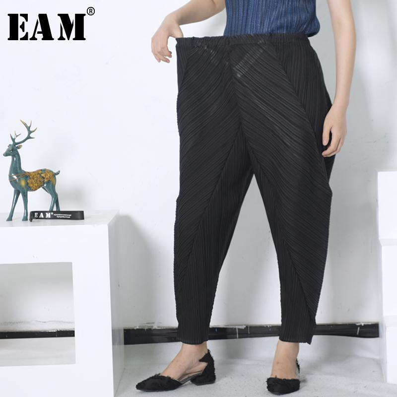 2be44a5e0bb1 Acheter X eam 2018 Mode D été Nouveau Élastique Taille Haute Noir Lâche  Casual Plissé Harem Pantalon Femmes Marée T Shirt Yd00701 De  42.74 Du  Ruiqi01 ...