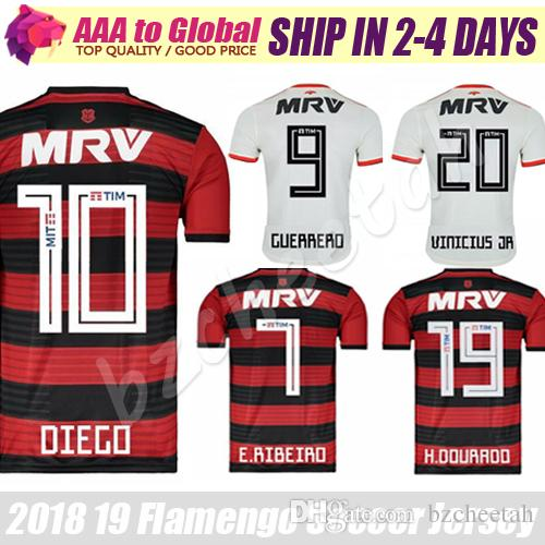 2019 Flamengo Soccer Jersey 2019 Flamengo RJ Jerseys Home Away Camiseta De  Futbol Flemish Diego Vinicius Jr Guerrero Football Shirts Uniforms From  Bzcheetah ... dc63abec9