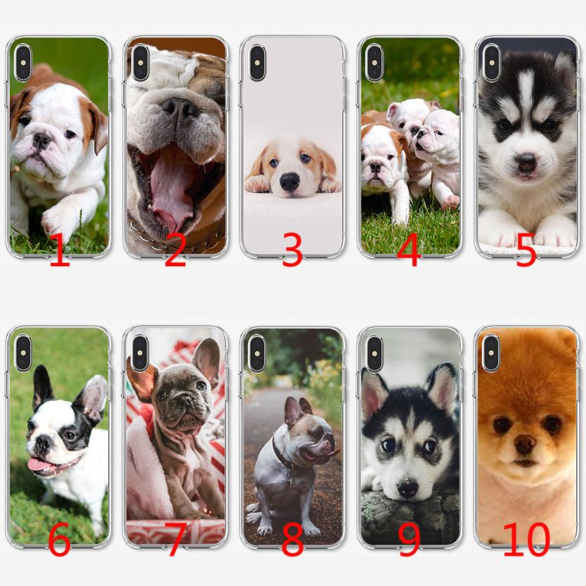 37d6c94f Cute Dog Soft Silicone TPU Case For IPhone X XS Max XR 8 7 Plus 6 6s Plus 5  5s SE Cover Custom Leather Cell Phone Cases Customize Your Own Cell Phone  ...