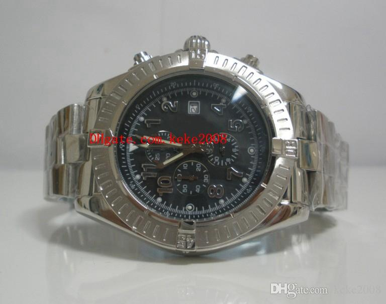 best website 71d01 ac2f7 Luxury High quality Watch Avenger E13360 48mm Black Dial Stainless Steel VK  Quartz Chronograph Working NO Chronograph Mens Watch Watches