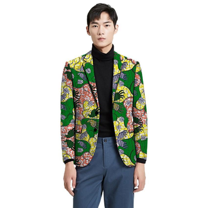 Acquista Da Uomo Stampa Abbigliamento Moda Blazer Africano Casual tQxshrdC