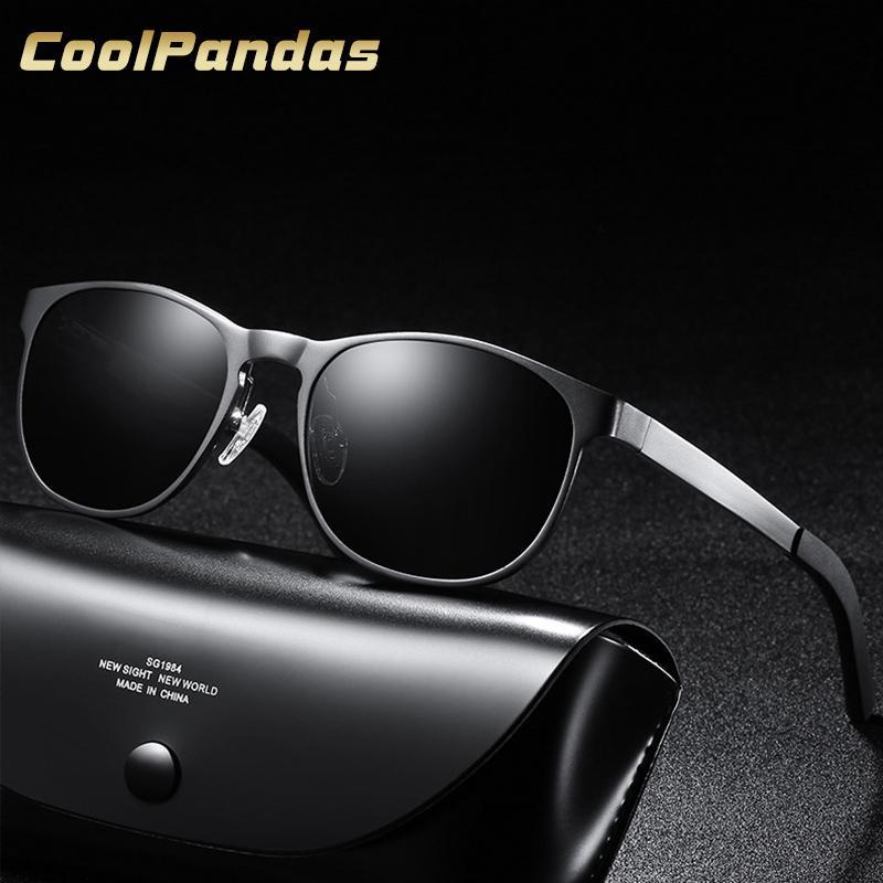 fcb7240a2 Compre 2018 Design Da Marca Dos Homens Clássicos Aviação Pra Óculos De Sol  HD Alumínio Polarizada Condução De Luxo Preto Óculos De Sol UV400 Oculos De  Sol ...