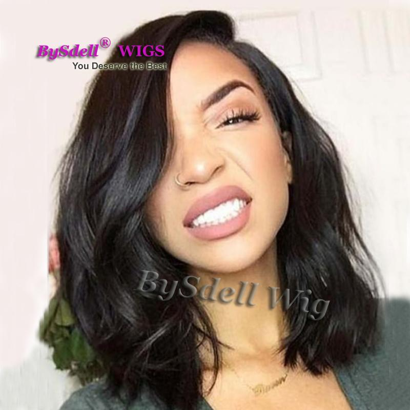 Synthetic Rock Medium Length Hairstyle Lace Front Wig