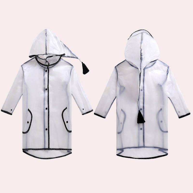 65ab143817dd 2019 Waterproof Children Rain Coat Baby PVC Transparent Rainsuit ...