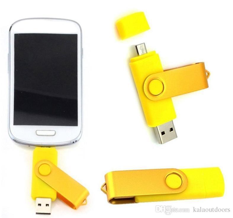 64GB 128GB 256GB OTG external USB Flash Drive USB 2.0 Flash Drive Memory for Android ISO Smartphones Tablets PenDrives U Disk Thumbdrives