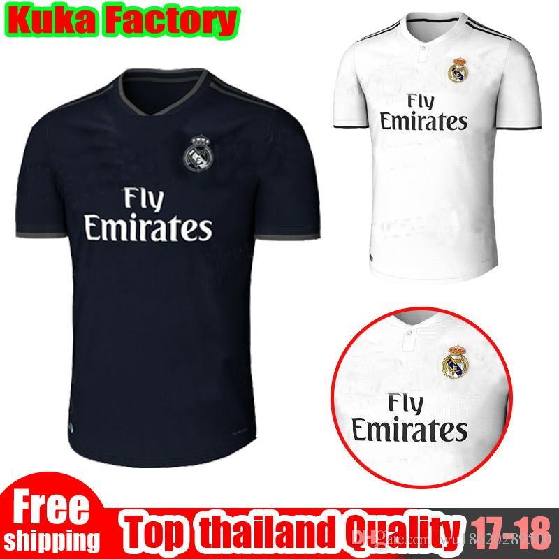 3ef2c20c16e4f 18 19 Real Madrid Soccer Jersey Ronaldo Modric Kroos Sergio Ramos ...