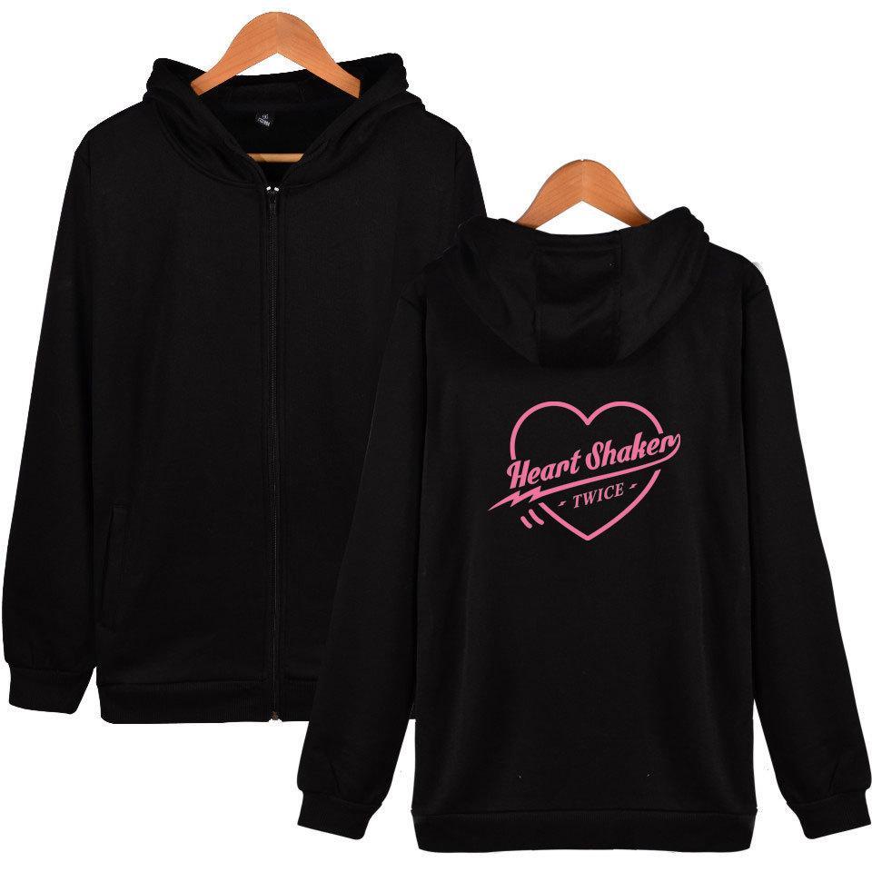 2019 Fashion Twice Heart Shaker Shinee Kpop Ulzzang Harajuku Hoodies