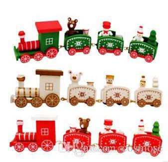 Weihnachten Kinder.Weihnachten Kinder Holz Kleinen Zug Weihnachtsgeschenk Spielzeug Dekorative Requisiten Für Haus Kindergarten Festliche Decor Neujahr Lieferungen