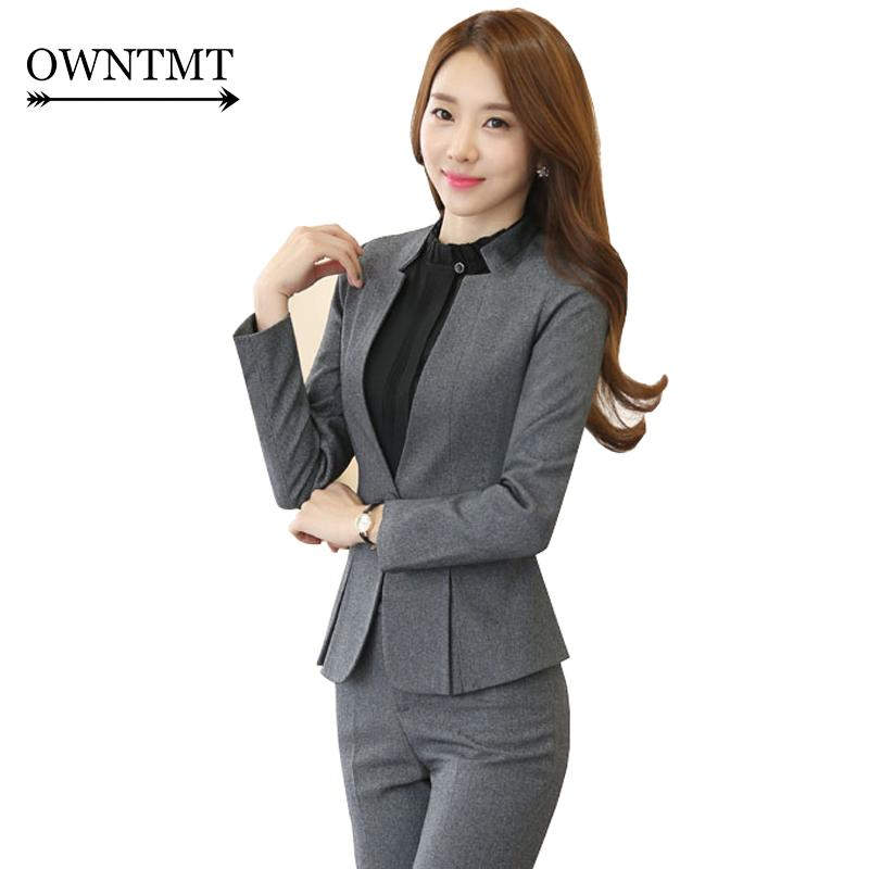 2018 High Grade Two Piece Formal Pant Suit Ladies For Wedding Office ...