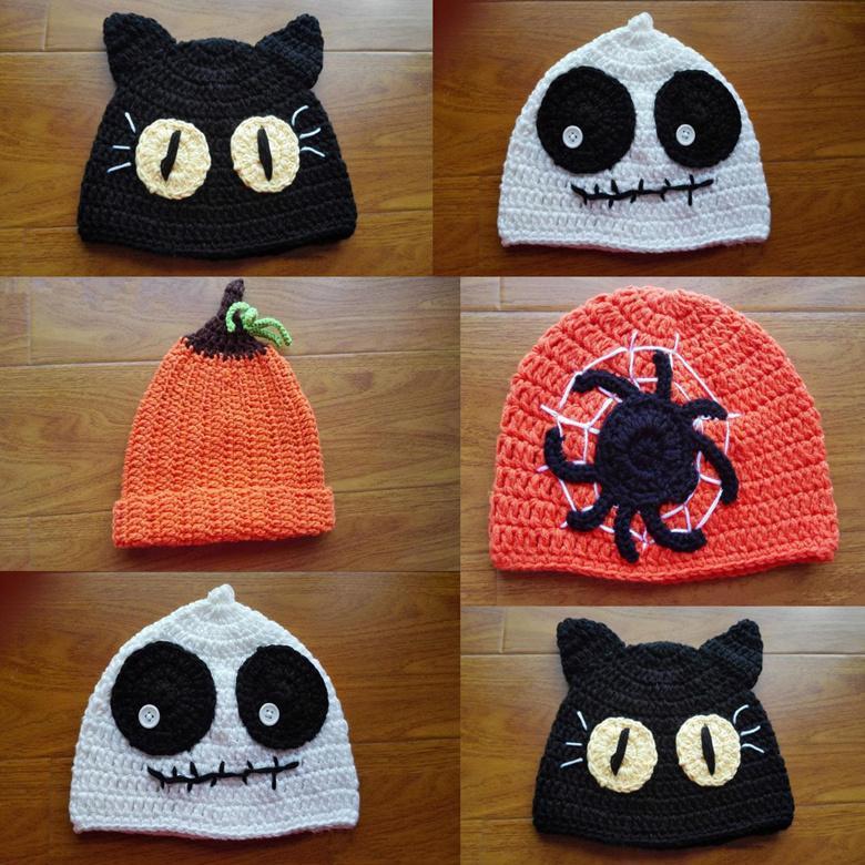 2019 Children Halloween Hats Caps 4 Style Boys Girls Spider Pumpkin