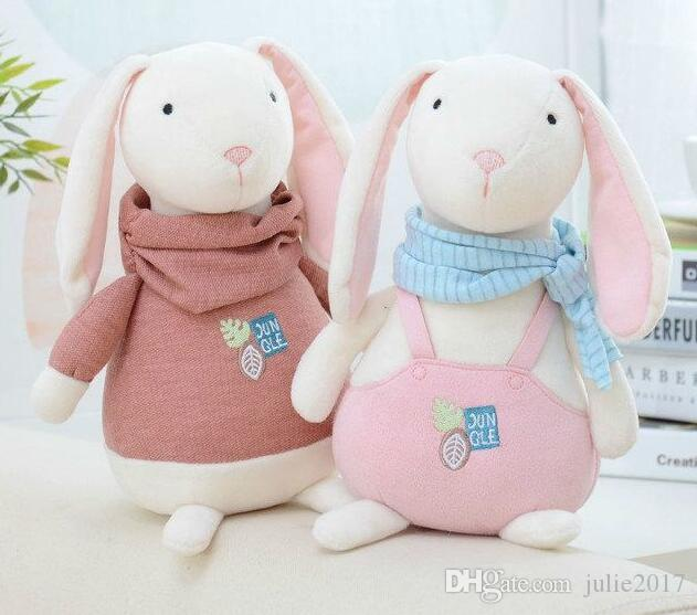 Plush Stuffed Animal Cartoon Kids Toys for Girls Children Baby Birthday Christmas Gift Lamb Rabbit Dog Doll