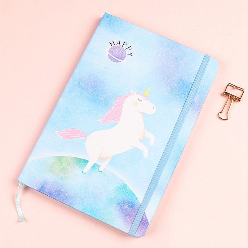 Compre Lindo Kawaii Impresion Unicornio Cuaderno De Dibujos Animados
