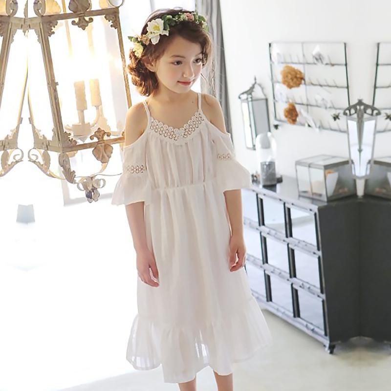 Hurave 2017 VERÃO novo bonito meninas vestido de roupas menina moda infantil roupas v neck vestidos vestidos de verão