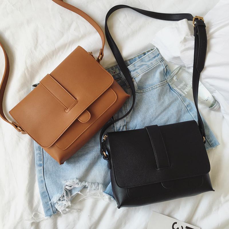 b71c1ce30a Luxury Handbags Women Crossbody Bags Solid Color Small Square Bag ...