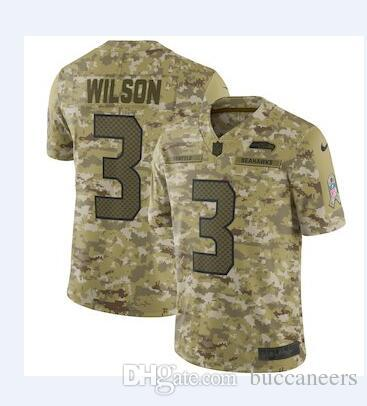 35dcb9103 2018 Russell Wilson Jersey 12th Fan Seahawks Bobby Wagner Tyler Lockett  Camo Salute Service Factory Custom American Football Jerseys Stitched Dhl  From ...