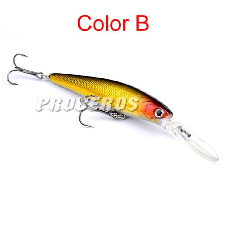 Peint au laser Crankbait de pêche en eau douce 12.5cm 13.5g de plongée peu profonde Wobbler Natation Bass Swimbaits Leurre en plastique