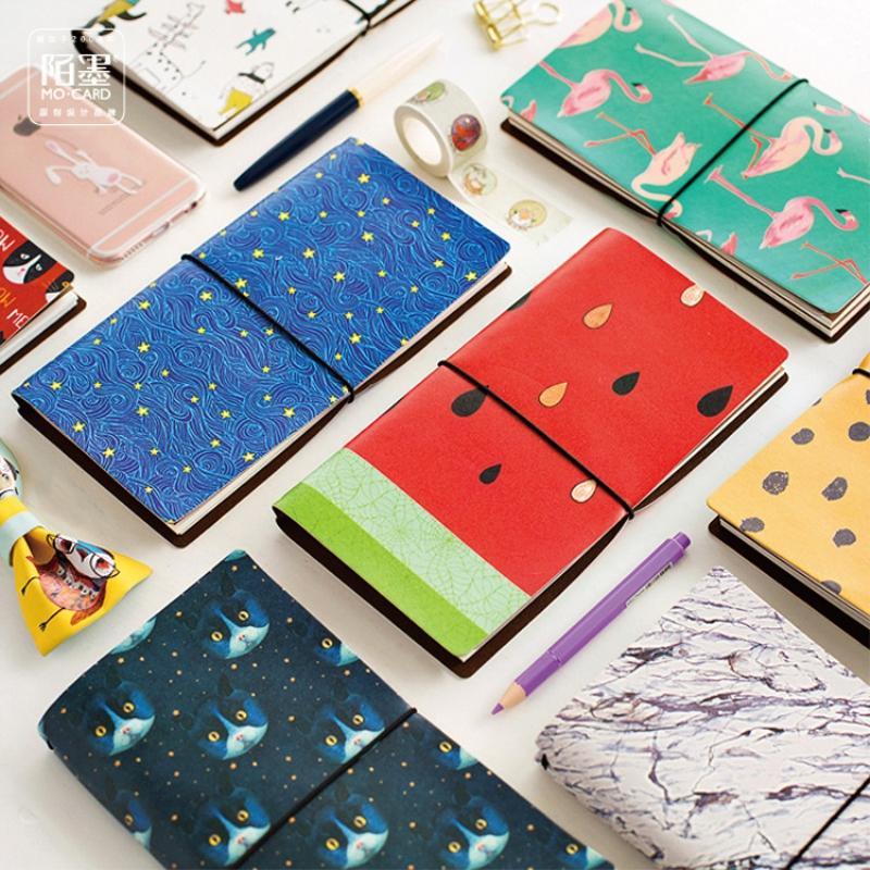 Coloffice 48K 19.5*10cm animal Flamingo cats Leopard star sky print Joural Diary Planner notStationery school office gifts