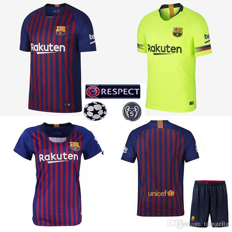 2018 Barcelona Kids Soccer Jersey Tops Pants Quality Polyester Sportswear  10 MESSI 8 A.INIESTA 11 DEMBELE 14 COUTEE Football Shirts 2018 2019 From  Tiangeltg ... 7f8d556b8