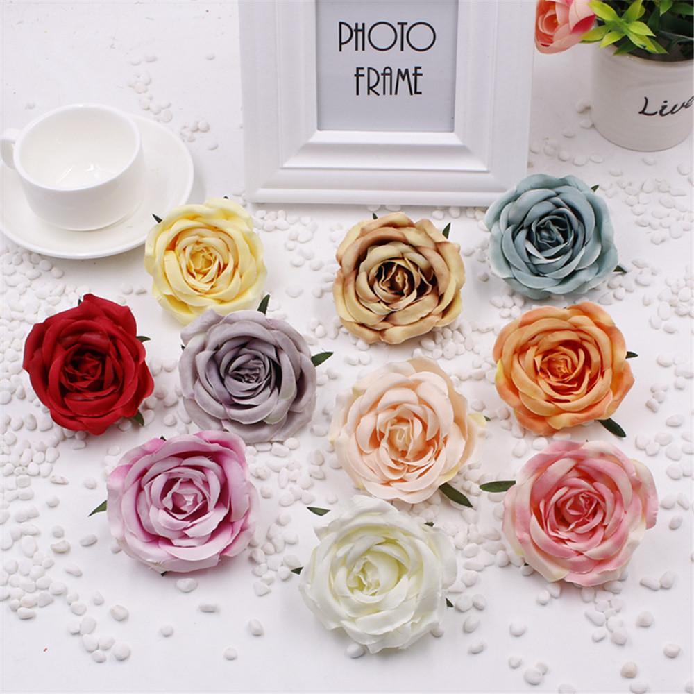 2018 7cm Rose Tissue Paper Scrapbooking Fake Artificial Flower Hand
