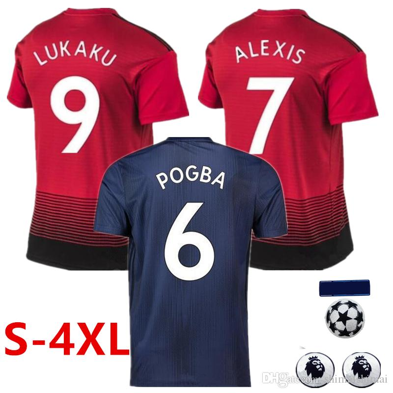 70b3d89d30 MENS 2XL 3XL 4XL XXL XXXL XXXXL POGBA Soccer Jerseys 2018 2019 ...