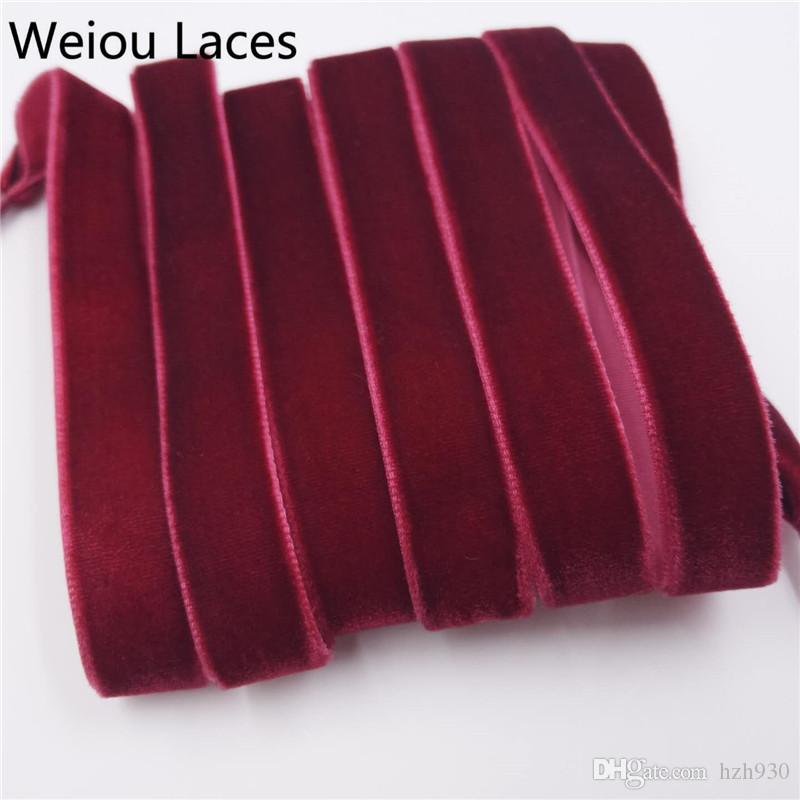 Weiou New Flat Single Side Colorful Velvet Shoelaces Fantastic Shoe Laces Sneaker Women Men Sport Shoes Lace Luxury multicolored
