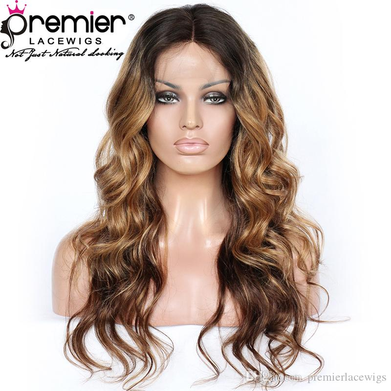 Premier Lace Front Wigs Indian Remy Human Hair 150% Density Ombre Long Wavy  Hairstyle For Women Full Glueless Lace Wigs Shop Hair Wigs From  Premierlacewigs a1332d4c6f
