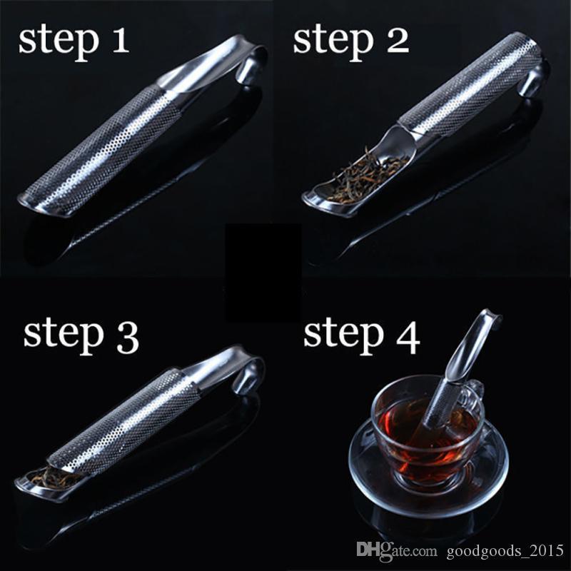 Tea Strainer Amazing Stainless Steel Tea Infuser Pipe Design Touch Feel Good Holder Tool Tea Spoon Infuser Filter c635