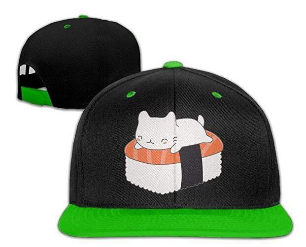 49af4371270ad Women Mens Sushi Cat Adjustable Hip Hop Caps Trucker Cap Newsboy Cap  Trucker Hat From Hqy86
