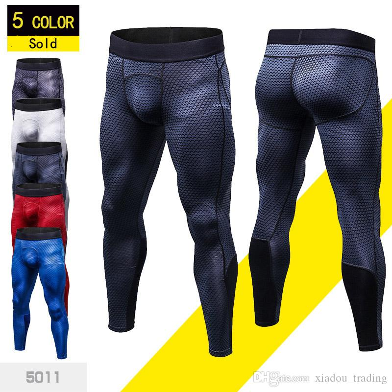 0cb17e84c8e 2019 2018 Men Compression Pants Skinny Sweatpants Men Gyms Leggings Joggers  Male 3D Workout Pants Fitness Elastic Trousers From Xiadou trading