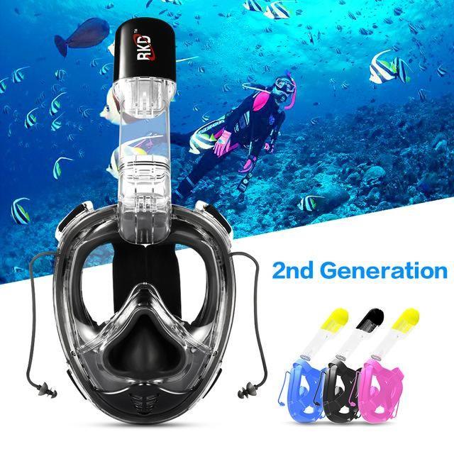 278bf153f Compre RKD Máscaras De Buceo Máscara De Buceo Cara Completa Para Niños  Natación Buceo Snorkel Submarino Niños Natación Buceo Máscara Snorkeling A   46.07 Del ...