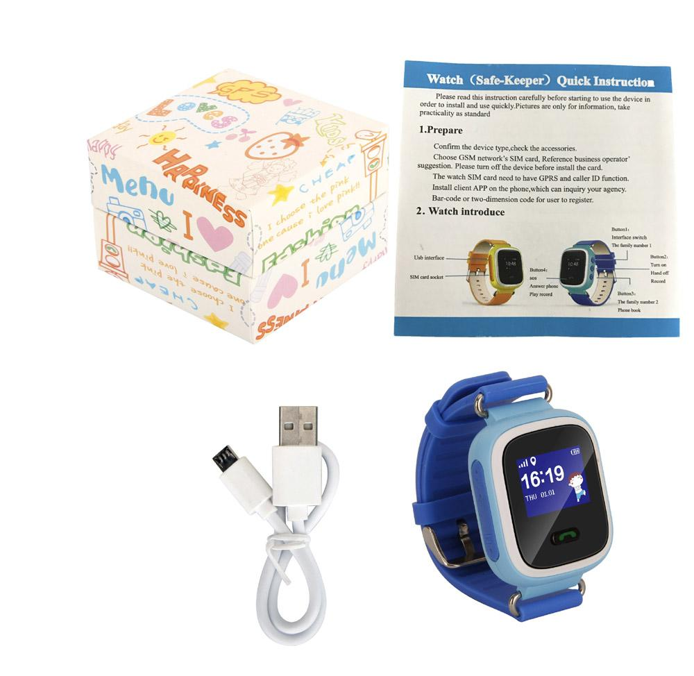 SOS Call GPS Tracker Watch Kids Q60 smart Positioning Monitor Watch  Location Finder With SIM Card Anti-lost Tracker DeviceFashi