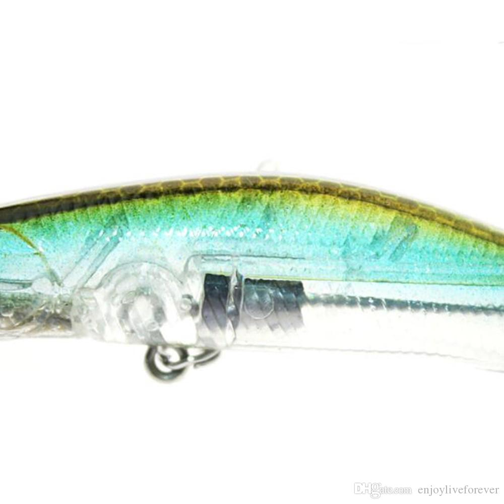 9.5g 9cm Lure Minnow Fake Baits Bronzing Laser Bionic Fishing Lure with 6# Treble Hook 1.5m Diving depth Floating Baits