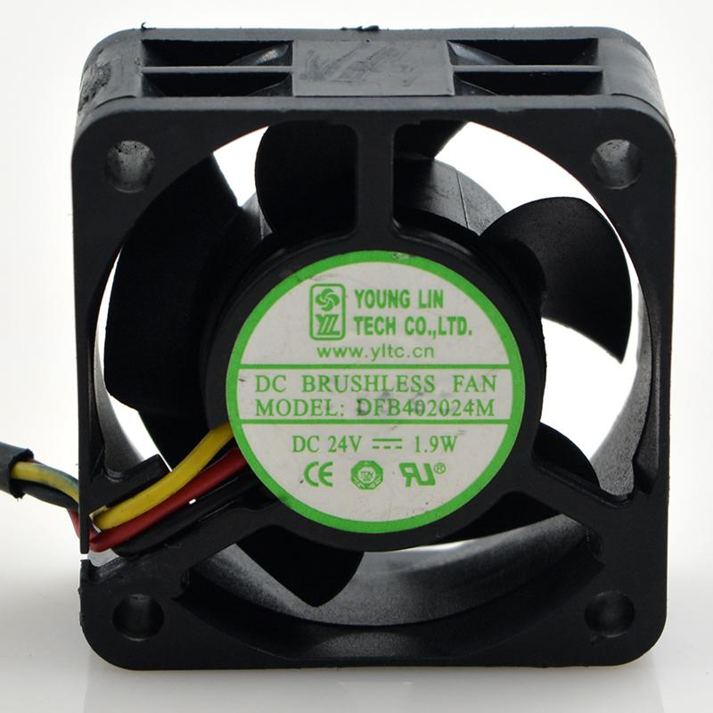DFB402024M 4CM 24V 1.9W 3 Yonglin line 4020 inverter fan fan server