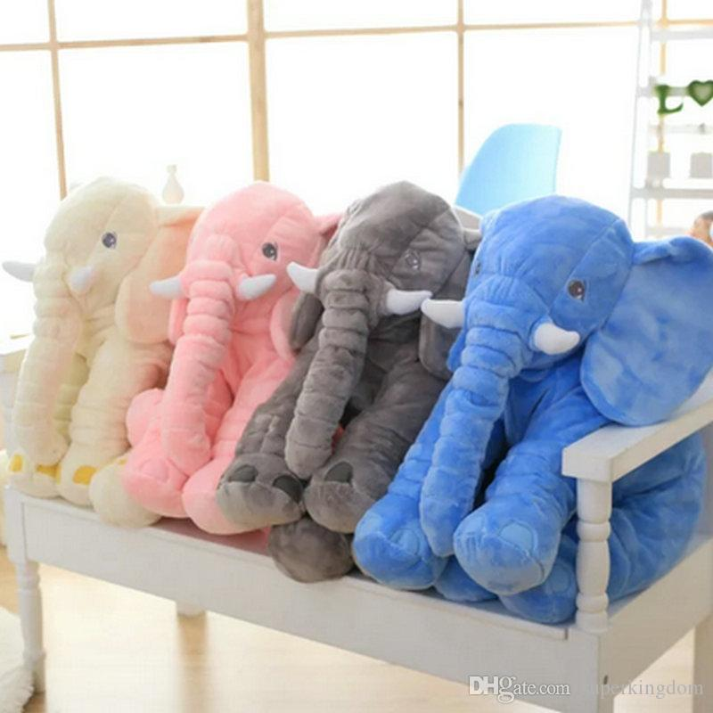 38/60cm Baby Animal Elephant Style Doll Stuffed Elephant Plush Pillow Kids Toy for Children Room Bed Decoration Toys