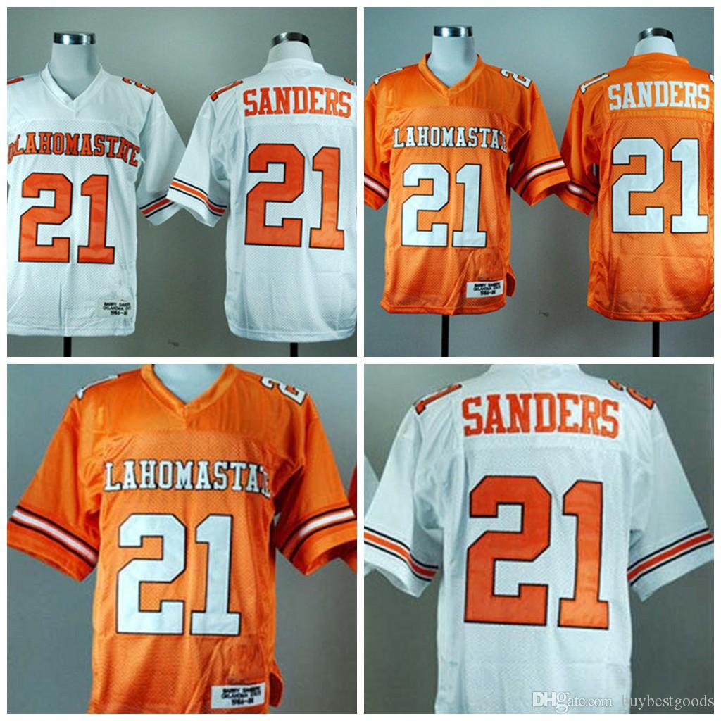 7ffe48fc501 2019 NCAA Oklahoma State Cowboys #21 Barry Sanders College Football Jerseys  Stitched White Orange From Buybestgoods, $20.31 | DHgate.Com