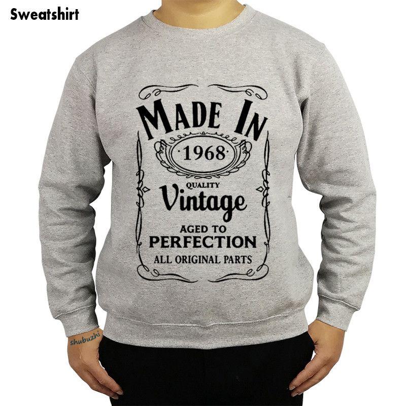 Drop shipping Made in 1968 shubuzhi Männer 50. Geburtstagsgeschenk Sweatshirt Herbstmode O Hals Hoodies lässig Baumwolle cool hoody