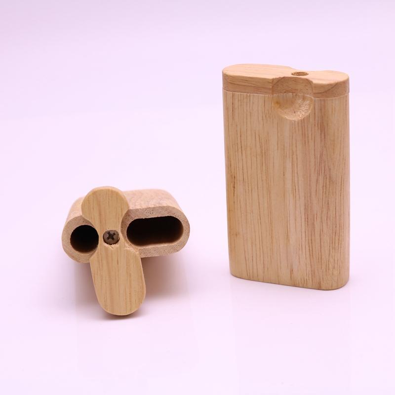 Курительная трубка из классической древесины 7,7 см высотой Pocket Dugout Pipe с трубкой летучей мыши 55 мм One Hitter Pipes