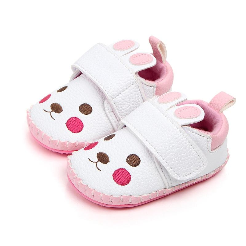 c77cb7f07e4e 2019 Spring Newborn Baby Shoes First Walkers Cute Cartoon Animal Print Soft  Sole Baby Girls Shoes Infant PU Leather Crib From Universecp