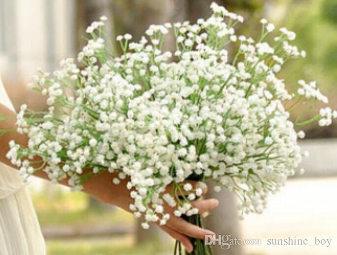 2018 CALIENTE Gypsophila seda de la respiración del bebé artificial de envío falso fiesta de la boda Flores de la planta Inicio la decoración del hogar gratuito