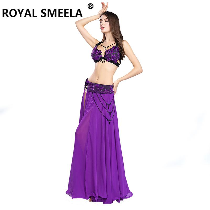 a6dc1f196 2018 Free Shipping New design Women's belly dancing clothes belly dance  costume set sexy fashion bellydance Top&Skirts&Belt-8803