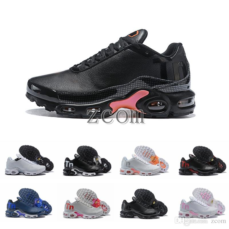 2018 New Mercuial TN Plus 2 Running Shoes Chaussures Tns Leather Brand Designer  Sneakers Women Mens Trainers Zapatos Deportivos 36-46 Mercurial Plus Tn ... 1b89d7ee0