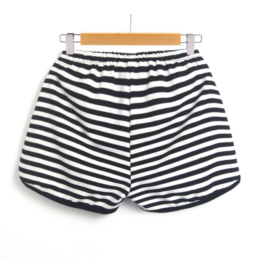 e69aabc26512 2019 Fashion Women'S Summer Shorts Striped Workout Waistband Shorts ...