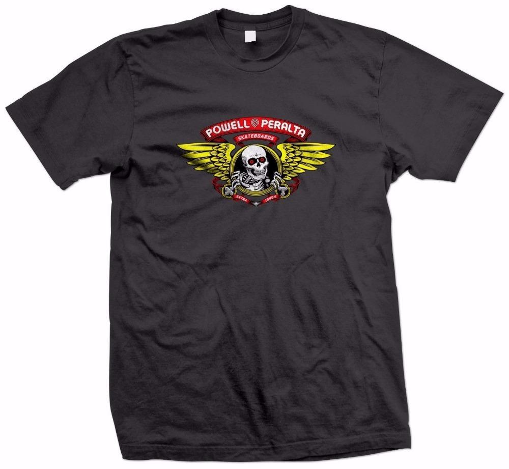e4e3abde2 Retro 100% Cotton Prin T Shirt Tee O Neck Short Powell Peralta Black T Shirt  Size S To 3XL Comfort Soft Shirt For Men T Shirts Shopping Online T Shirts  ...
