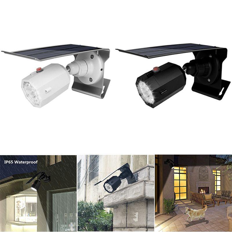 aeff6f0a1ac557 Acheter 10 LED Lumière Solaire Réglable Angle D éclairage 500lm Faux  Moniteur Étanche Lampe Spotlight Trois Mode Pour Jardin Jardin Mur Cour De   16.94 Du ...