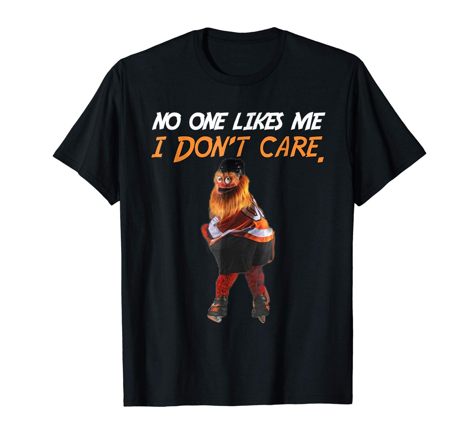 44f3d14b0c9 No One Likes Me I Dont Care Philly Mascot Gritty T Shirt Black Cotton Men M  3XL O Neck Sunlight Men T Shirt Top Tee Find A Shirt Shirts T Shirts From  ...