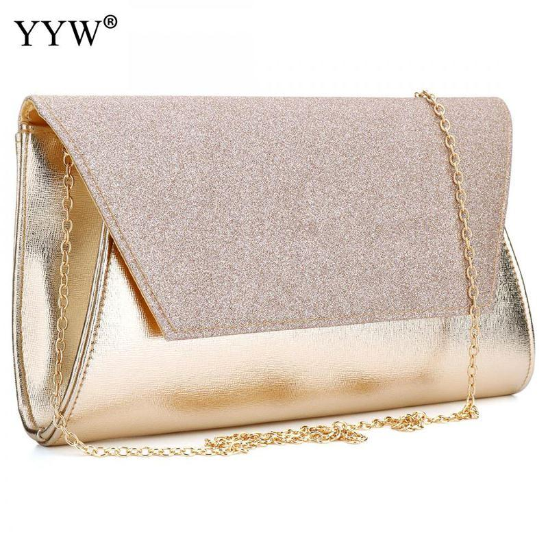 dff74f2e02c5 Luxury Women Bags Designer Gold Evening Party Bag For Female Clutch Bag  Lady S PU Leather Handbag Famous Brand Crossbody Bag Clutch Purses White  Handbags ...