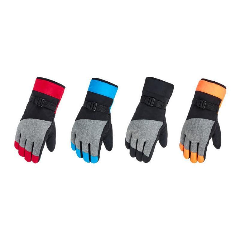 Unisex Waterproof Snow Gloves Women Men Ski Gloves Snowmobile ... bd2572c12