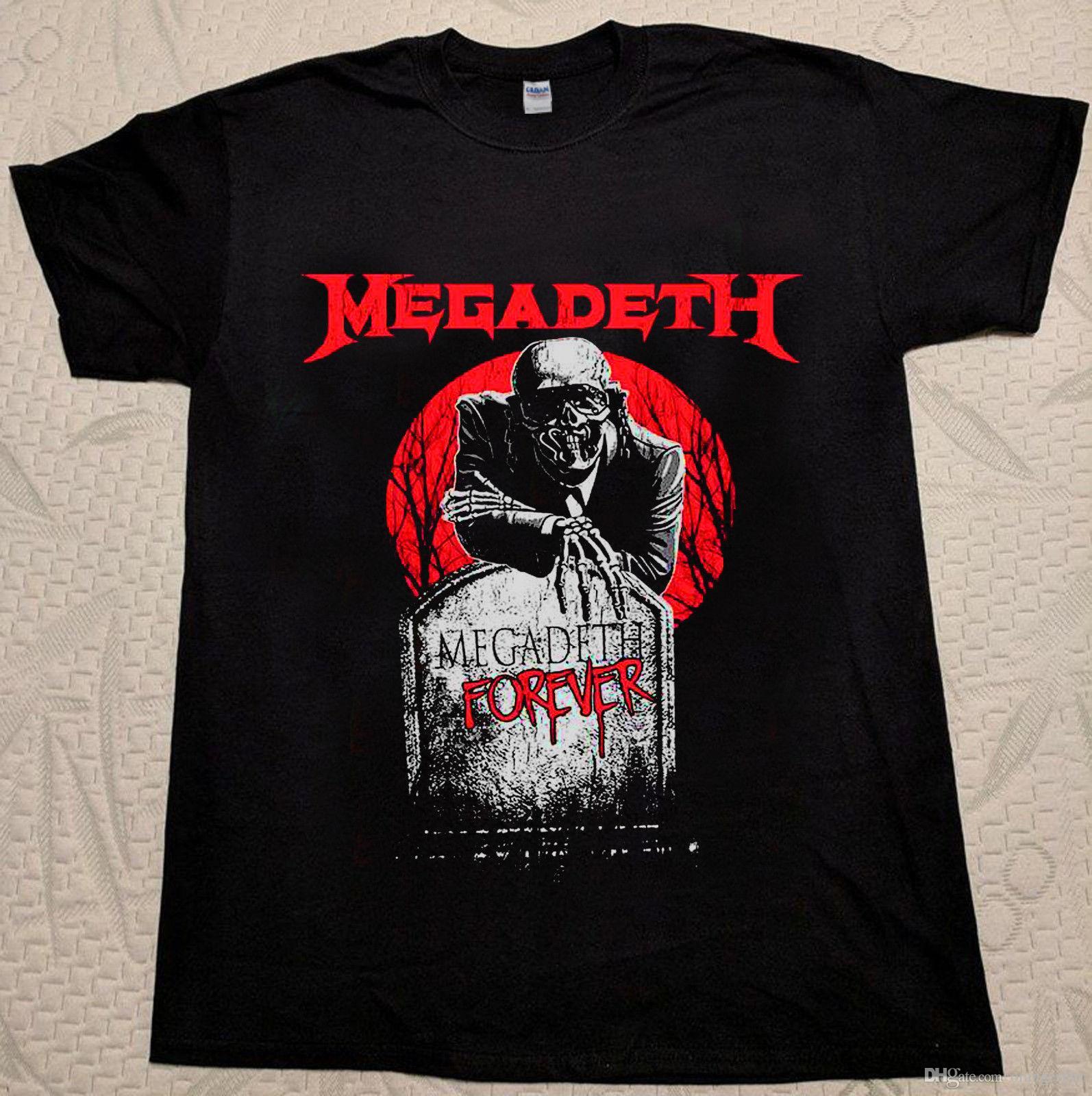 080504374e5b5 Compre Camiseta Megadeth Camiseta Rara Camiseta De Manga Corta S 3XL A   10.65 Del Shirtsclub